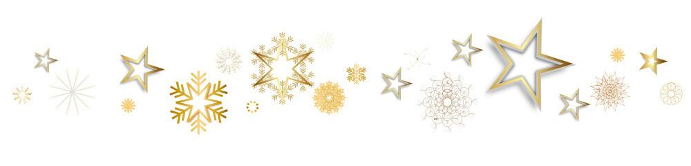 Stern Band Banner Hintergrund Sterne Schneeflocken Schneeflocke Welle Wellen