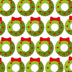 christmas crown pattern background vector illustration design
