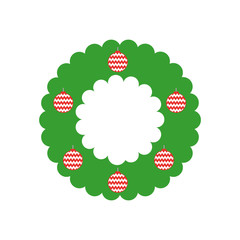 christmas crown isolated icon vector illustration design