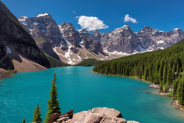 Beautiful Moraine Lake in the Canadian Rockies, Canada.