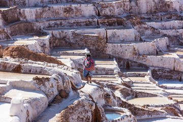 Poster South America Country Salt ponds
