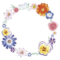春の花 フレーム
