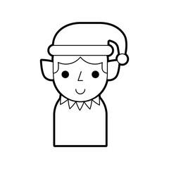 christmas elf avatar character vector illustration design