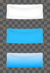 vinyl banners backdrop on transparent background