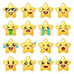 Star emoji. Cute emoticons