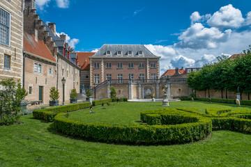 Dutch ancient building garden