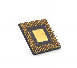 computer processor on white background