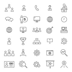 CEO 30 Line Icons
