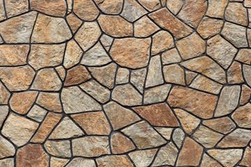 Modern stone masonry.