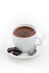 Foto op Canvas Chocolade hot chocolate in a cup, vertical