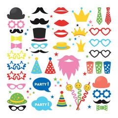 Party masks set.