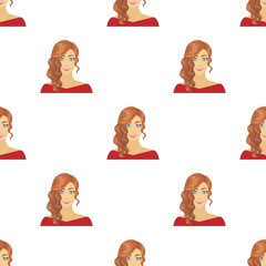 The face of a woman with a hairdo. Face and appearance single icon in cartoon style vector symbol stock illustration web.