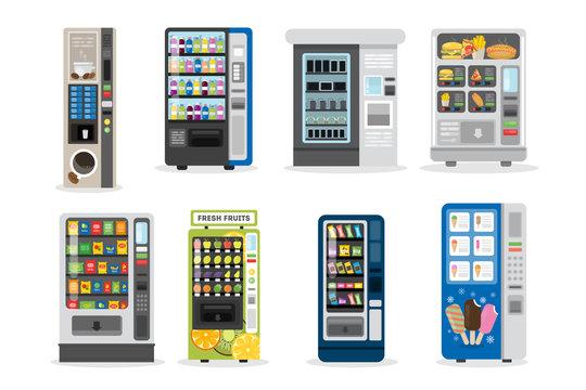 Vending machines set.