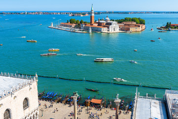 Aerial view of Venice with a sea