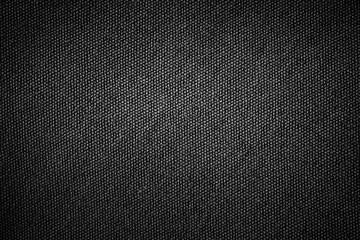 Simple black background sackcloth fabric texture with gray gradient light abstract for product or text backdrop design