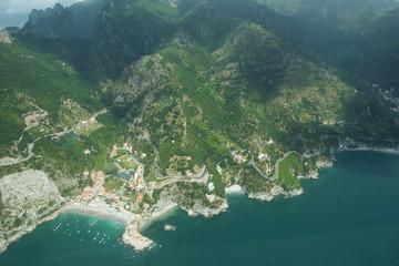 Europe,Italy,Campania,Salerno district, Amalfi..aerial view of the Amalfitan coast