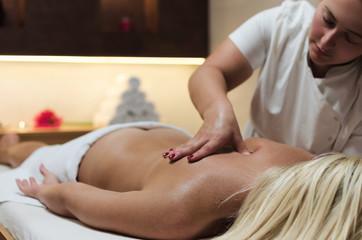 Healthy spine massage