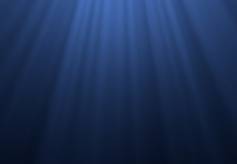 Blue underwater surface and ripples, natural scene in the Caribbean sea