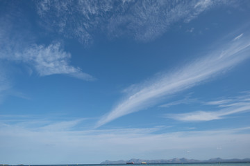 Blue sky with cirrus clouds