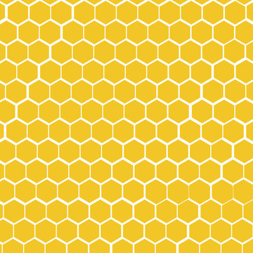 A yellow honeycomb vector background
