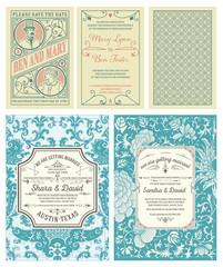 wedding cards set