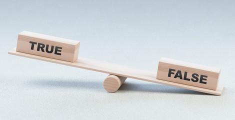 Vero o falso, parole sulla bilancia