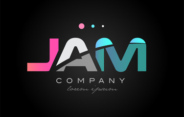 JAM j a m three letter logo icon design