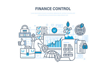 Finance control, analysis and market research, deposits, contributions and savings.