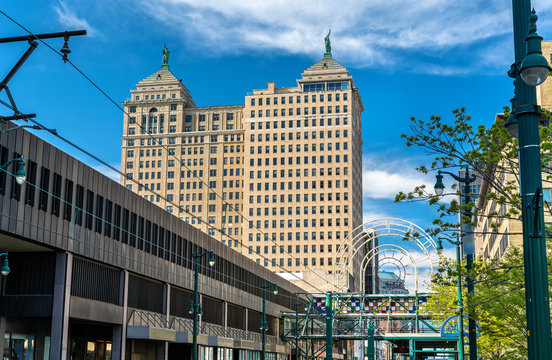 View of the Liberty Building in Buffalo - NY, USA. Built in 1925 in the Neoclassical style