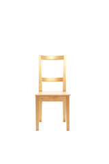 Isolated light wooden chair