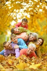 Big family having fun
