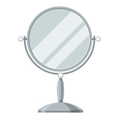 Mirror for make up. Illustration of object on white background in flat design style