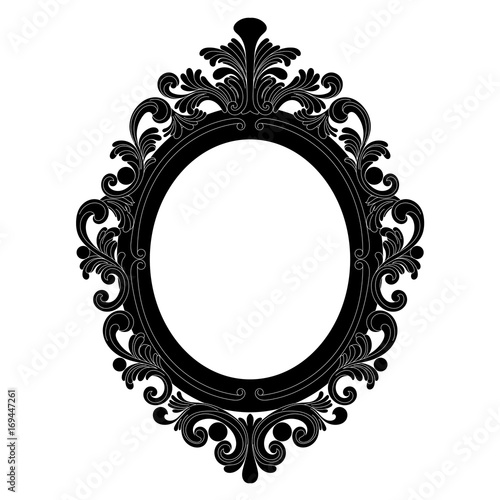 Vintage Oval Graphical Frame In Antique Style Vector