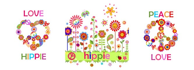 Funny hippie childish print