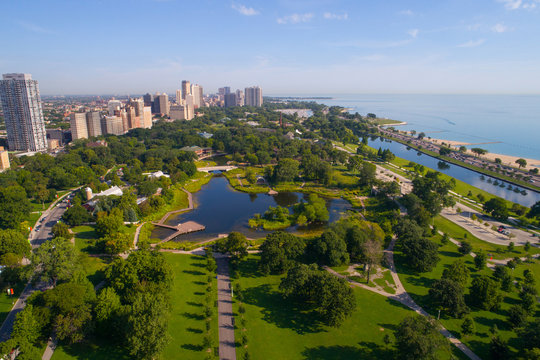 Aerial image Chicago Lincoln Park Zoo