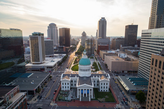 Aerial image Old Courthouse St Louis Missouri