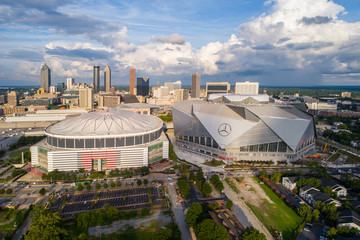 Mercedez Benz Stadium and Georgia Dome