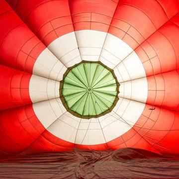 Preparation of hot air balloon, Aosta Valley, Italy, Europe.