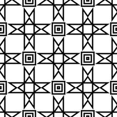 Geometric black and white seamless pattern