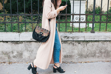 Stylish woman in the street