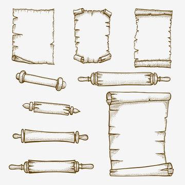 old scrolls engraving.