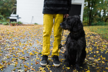 A teen with his dog