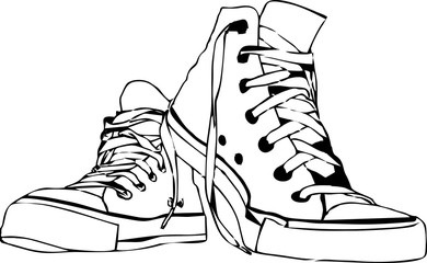 line art - shoes