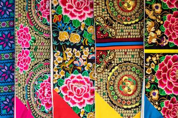 Colored maroccan fabric