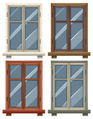 Windows with four frames