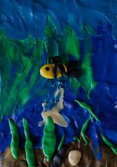 Plasticine underwater world