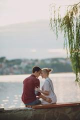 couple near river