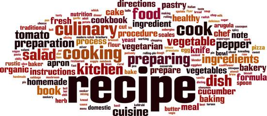 Recipe word cloud