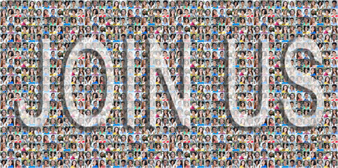 Join Us People Collage Background