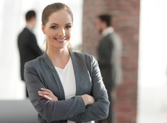 portrait of a woman employee of the company